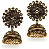 Jaipur Mart Jhumki Earrings for Women (Golden)(GSE247GLD$P)