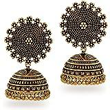 Jaipur Mart Jhumki Earrings for Women (Golden)(GSE247GLD$P)