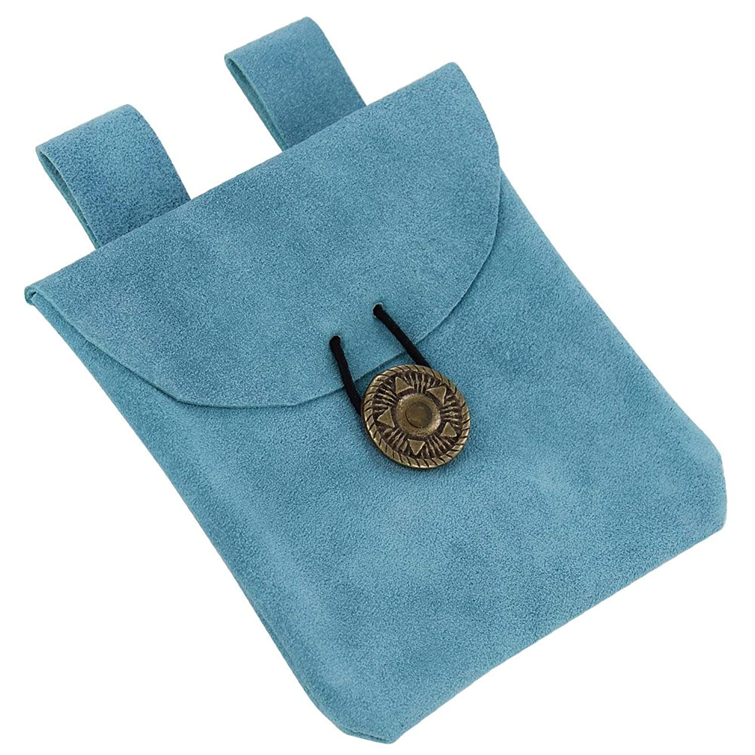 Deluxe Adult Costumes - Lights of the peaceful blues small suede pouch