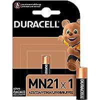 Duracell Özel Alkalin MN21 Pil 12V, 1'li paket (A23 / 23A / V23GA / LRV08 / 8LR932) uzaktan kumandalar, kablosuz kapı…