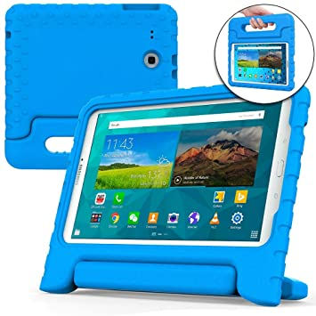 finest selection 770ff ff8d0 Cooper Dynamo [Rugged Kids Case] Protective Case for Samsung Tab E 9.6 |  Child Proof Cover, Stand, Handle | SM-T560 T561 T562 T563 T565 T567 (Blue)