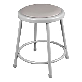 Learniture Padded Metal Lab Stool 18u0026quot; Seat Height Gray NOR-TY  sc 1 st  Amazon.com & Amazon.com: Learniture Padded Metal Lab Stool 18