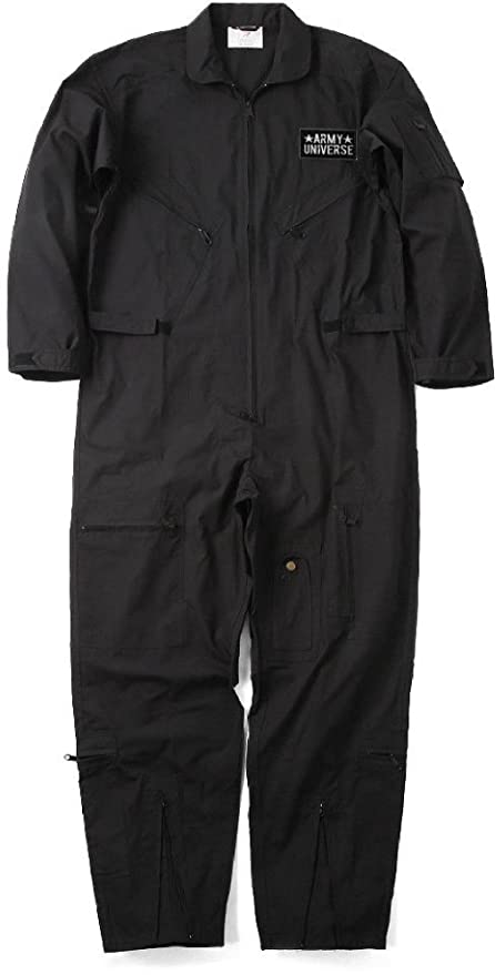b5fb85d3a223 Amazon.com   Military Uniform Flight Suit Air Force Style Fighter Coveralls  Jumpsuit + Patch   Sports   Outdoors