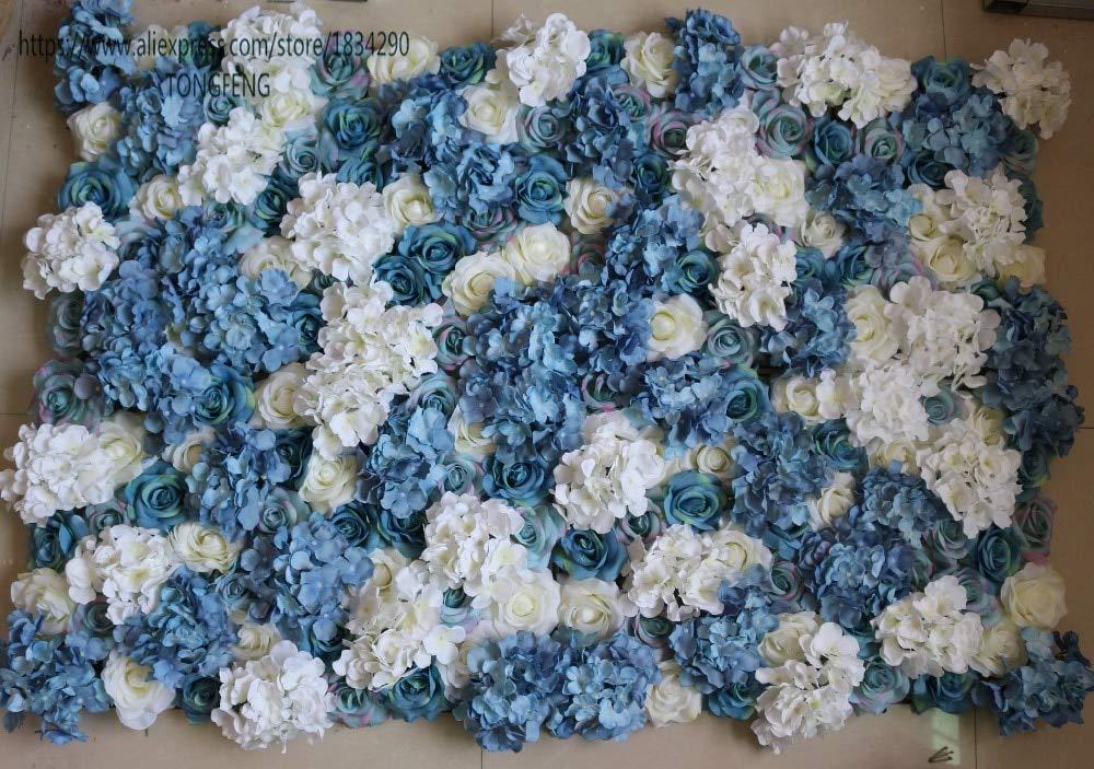 ShineBear - 10 Rosas Artificiales de Seda para decoración de Bodas ...