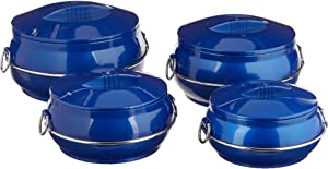 Cello Daawat Insulated Casserole Hot Pot Food Warmer, 4-Piece Gift Set, Assorted Colors(Color may Varry)