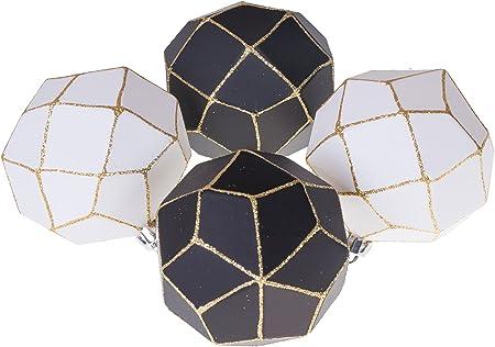 Tissu Flexible//paillet/é en Forme de Pomme de pin 85 mm pour Sapin Clever Creations Blanc Lot de 3 d/écorations de No/ël