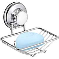 iPEGTOP Rustproof Stainless Steel Compact Shower Caddy Bath Shelf with Strong Suction Cups Rectangle Storage Basket for Bathroom Kitchen Organizer