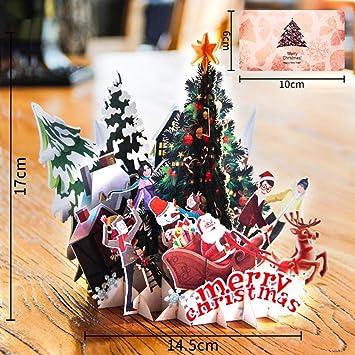 Mrinb Tarjeta de Navidad Tarjeta Regalo de 3D Pop-up Regalo ...