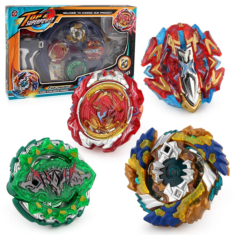 Aomeiter Bay Burst Battle Avatar Attack Battle Set with Two Launchers Red