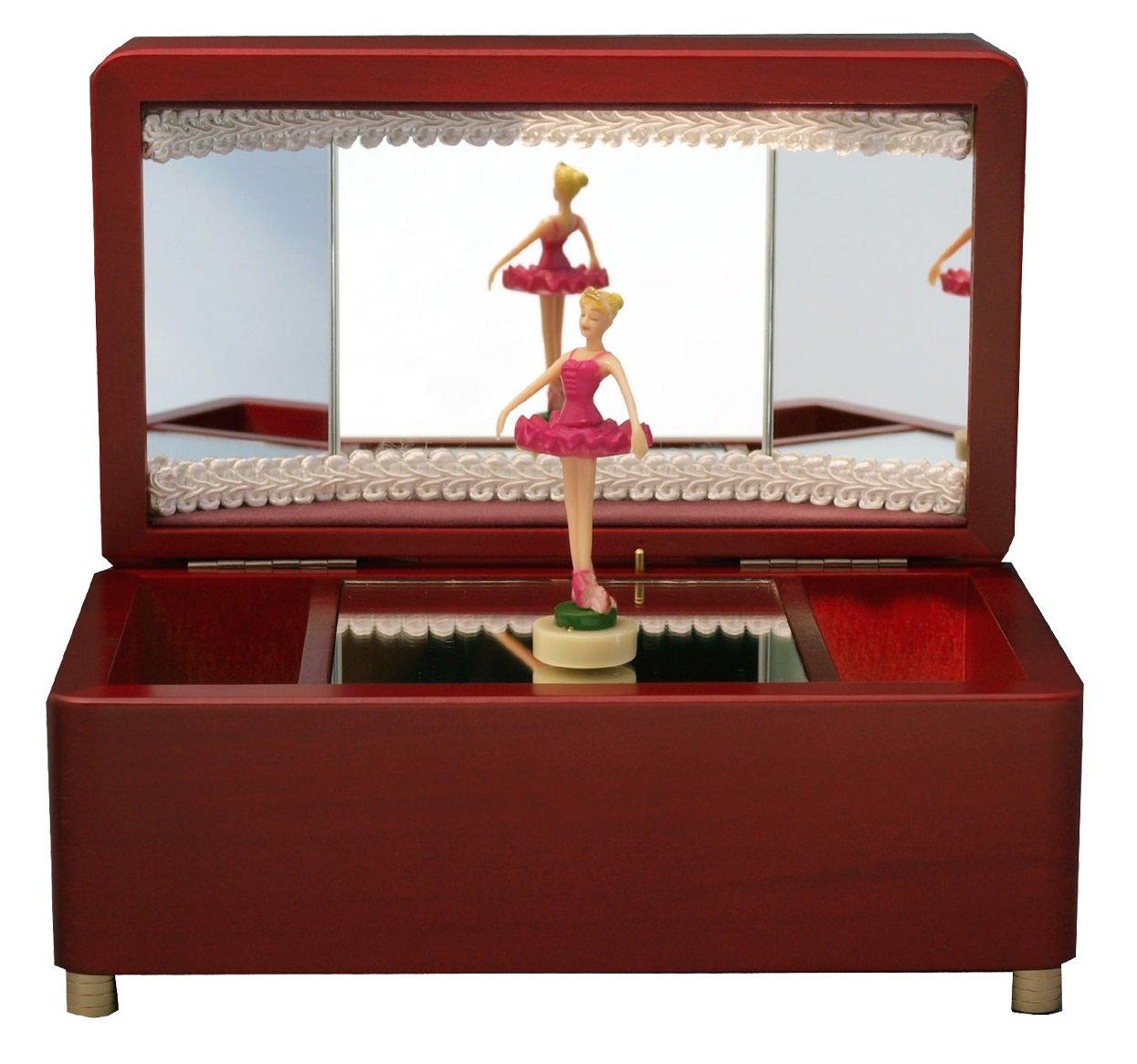 バレリーナオルゴール ワイン 愛の夢 ピンク色の人形 B007QUW8G6