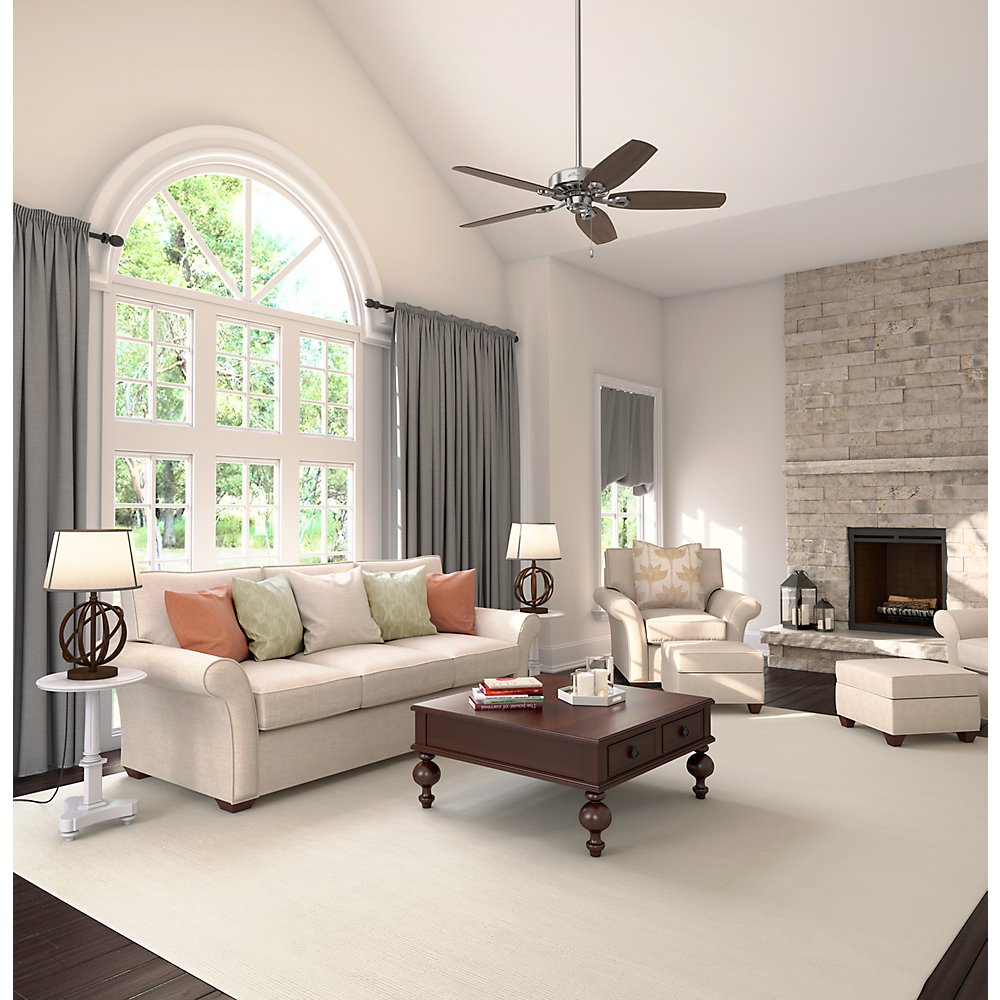Hunter 53241 Builder Elite 52-inch Brushed Nickel Ceiling Fan with Five Brazilian Cherry/Harvest Mahogany Blades by Hunter Fan Company (Image #10)