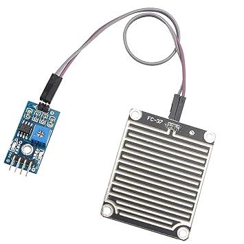 Módulo sensor de lluvia, detector de humedad ambiental, para Arduino, de Haljia: Amazon.es: Electrónica