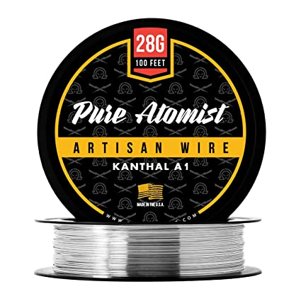 Pure Atomist Kanthal 28 AWG Gauge A1 Wire 100\' Roll 0.32 mm 5.27 ...