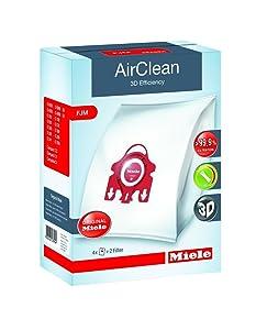 Genuine Miele Vacuum Cleaner AirClean Dust Bags Type FJM Pack of 4