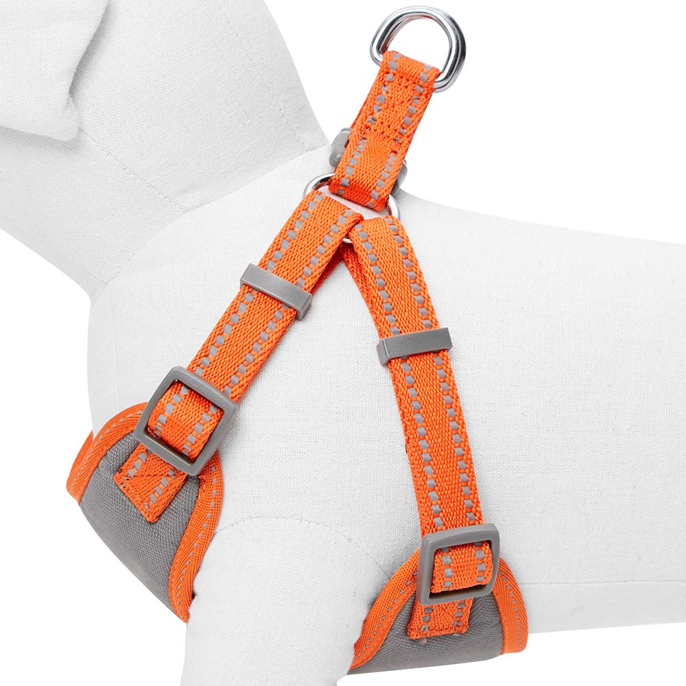Essential Pastel Color Reflective Dog Harness Adjustable Harnesses for Dogs Baby Pink Small Chest Girth 42cm-54cm Umi