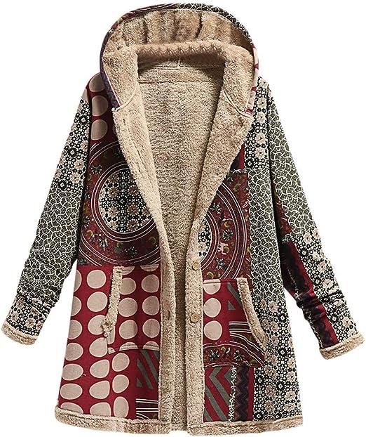 STORTO Womens Puff Coat Clearance,Winter Warm Lapel Parka Outwear Fluffy Button Jacket