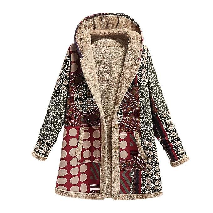 WARMWORD Abrigo Invierno Mujer Chaqueta Suéter Jersey Mujer ...