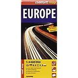 Europa, mapa de carreteras plastificado. Escala 1:4.000.000. ExpressMap (Express Maps)