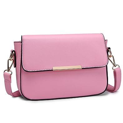 f922d6f62e4 Miss Lulu Small Cross Body Bag Stylish Shoulder Bag for Women Pu Leather  Handbags