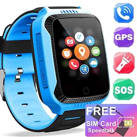 Amazon.com: iGeeKid [Free SIM Card] Kids Smart Watch - Smart ...