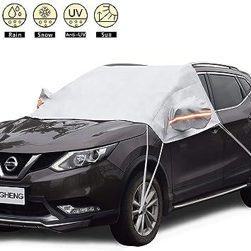 Amazon.es: Ding Heng Auto protectora Protección de hoja scheibenabdeckung frostabdeckung winterabdeckung Parabrisas Hielo - Protector de pantalla Parabrisas ...
