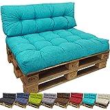 beautissu eco style coussins pour canape euro palette assise banquette 120x80x15 cm bleu. Black Bedroom Furniture Sets. Home Design Ideas