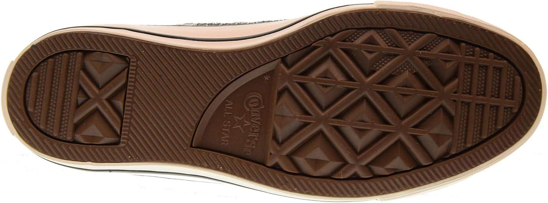 Converse Chuck Taylor CTAS Hi, Sneakers Basses Fille Noir Black White Black 001