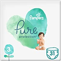 Pampers Pure Protection Diapers, Size 3, 6-10 kg, 31 Count