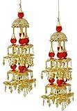 MUCH MORE Gold Plated Punjabi Wedding Style Kaleera Women and Girls