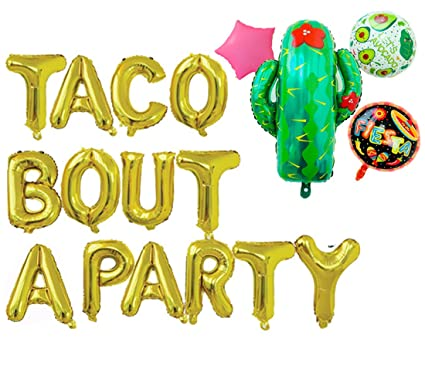 Amazon Com Rose Wood Taco Bout A Party Foil Balloons Letter