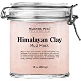 Himalayan Clay Mud Mask for Face and Body by Majestic Pure - Exfoliating and Facial Acne Fighting Mask - Reduces Appearance o