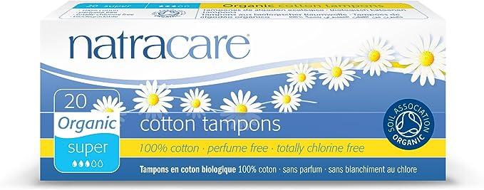 Natracare Organic Cotton Non Applicator Tampons Regular 10 Per Pack
