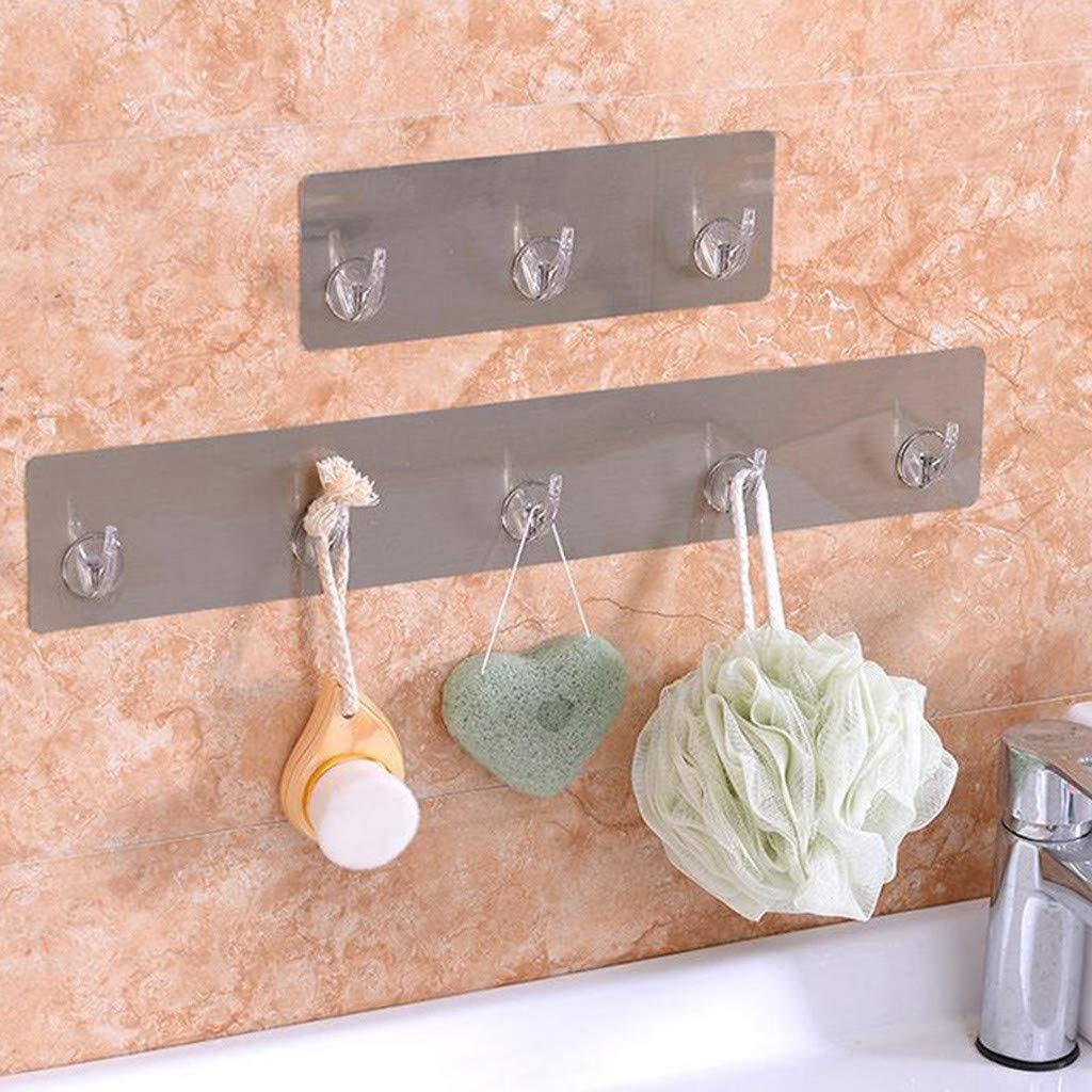 Quaanti Kitchen Utensil Holder Hook Hanging Rack,Organize Pots Pans Gadgets On Wall Mounted Hanger Bar Cabinet Shelf Coffee Mug Cup Mop Brush Broom Organizer,Hold Dry Towels (A)