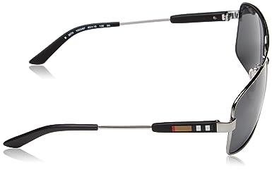77cc3c1caff2 Amazon.com  Burberry Sunglasses BE 3074 100387 Gunmetal 63mm  Burberry   Shoes