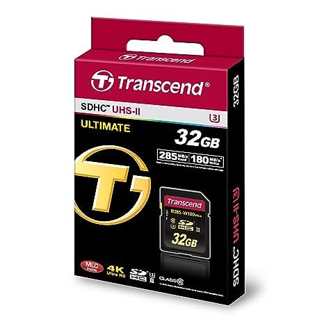 Amazon.com: Transcend tarjeta SD de clase 10 SDHC UHS-II ...