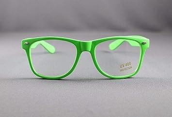 22b2e8e9e8f Amazon.com   Green clear lens risky business sunglasses 80s retro style  glasses   Beauty