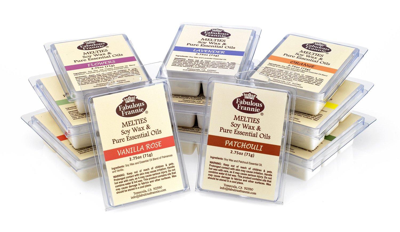 Samlpler Set 100% Soy Wax Meltie/Tart/Mel t 11-2.5 oz Melts Made with 100% Pure Essential Oil & Soy Wax