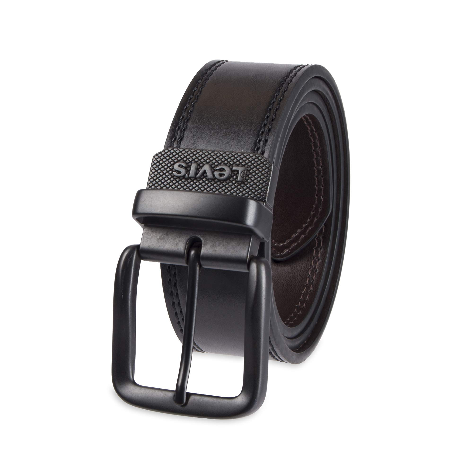 02a642ae09559 Galleon - Levi's Men's Wide Reversible Casual Jeans Belt,Black/Brown,40
