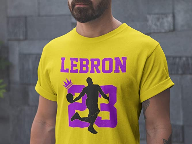 sports shoes 35e62 ca7a1 Lebron 23 Shirt Los Angeles Jersey King Of ... - Amazon.com
