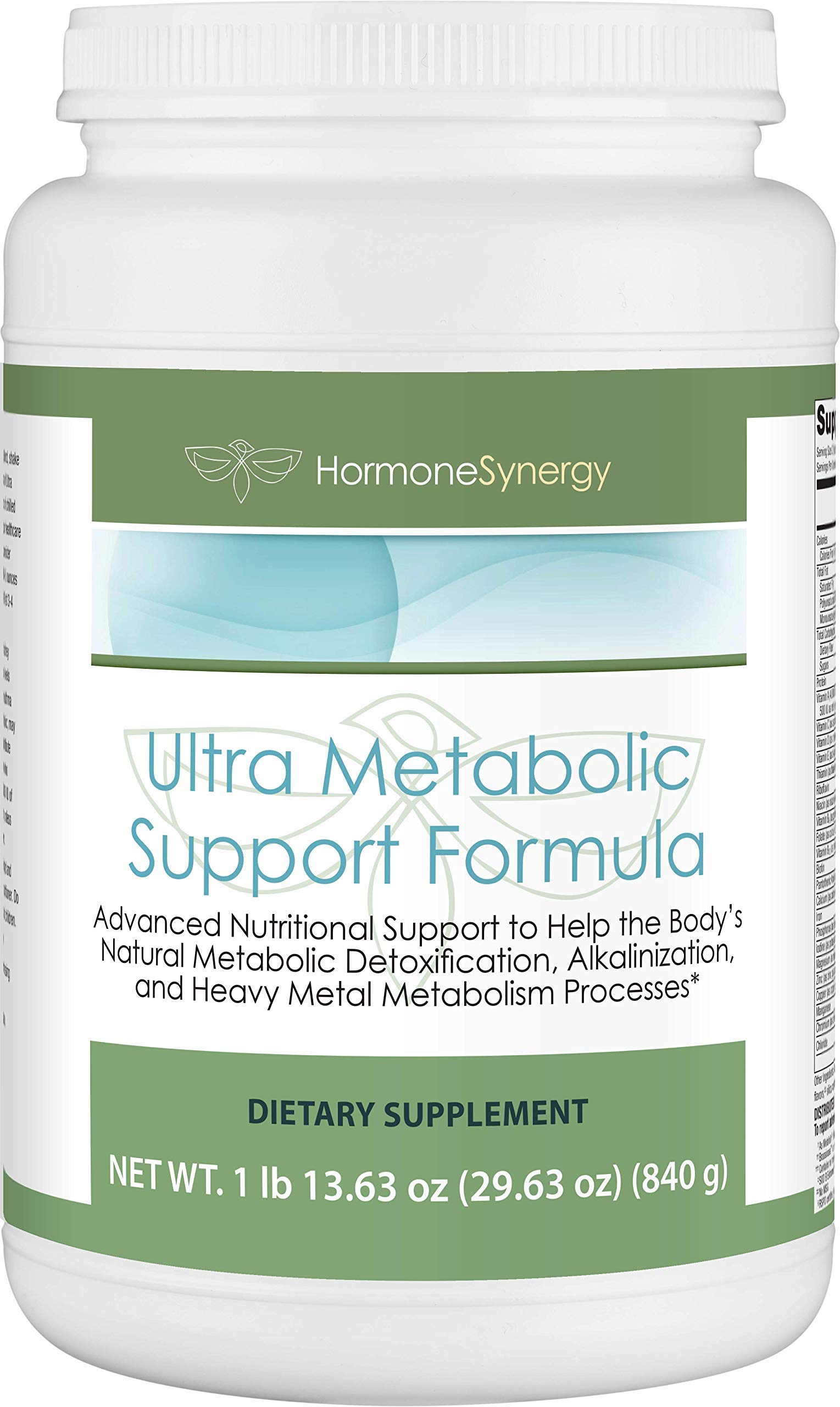 Ultra Metabolic Support Formula | 1 ea. 21 Serving Bottle | Support to Help The Body's Natural metabolic detoxification, alkalinization & Metabolism processes* | Vanilla | Ships Free!