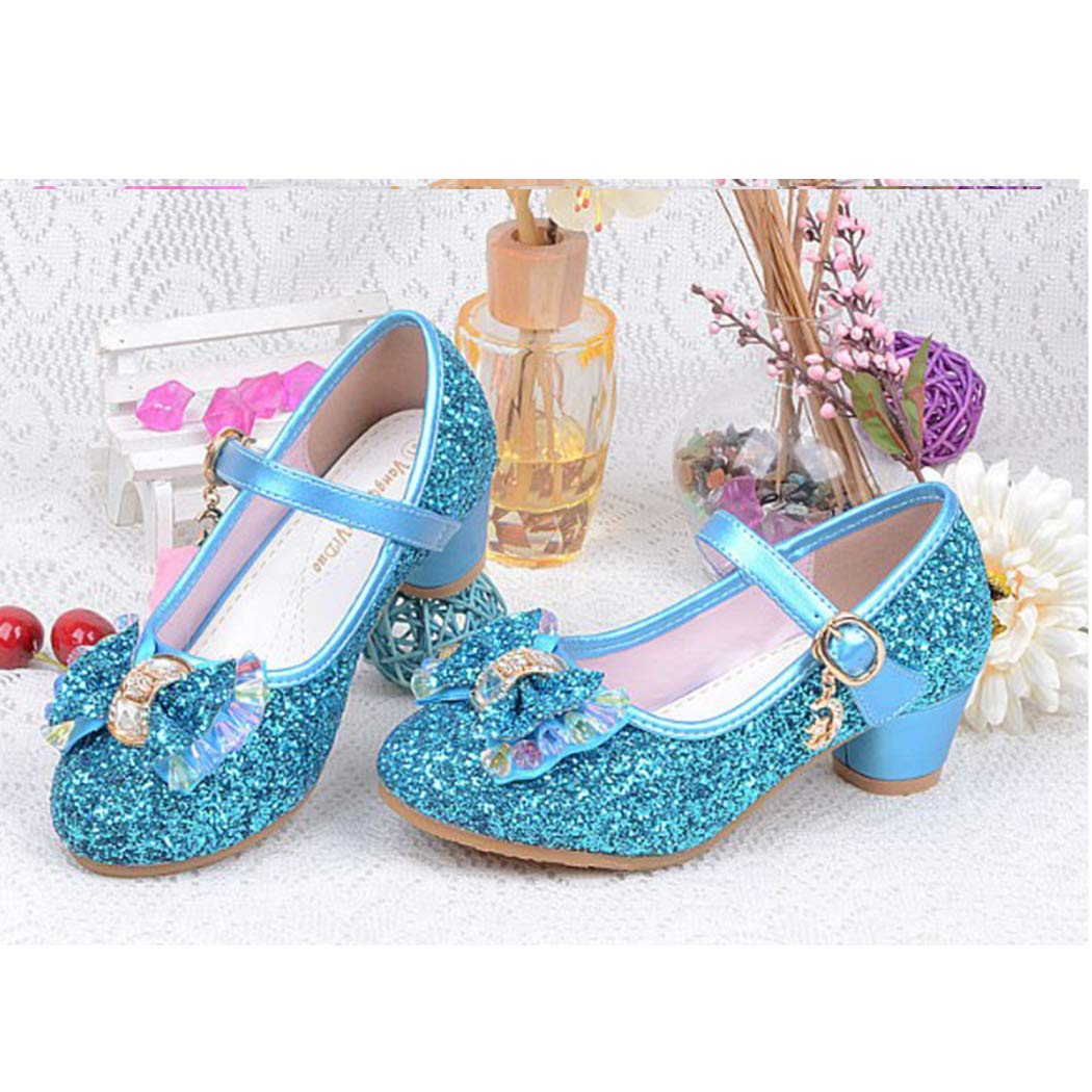 Girls Sparkle Princess Crystal Shoes Mary Jane Dance Shoes Birthday Party Flat Shoes
