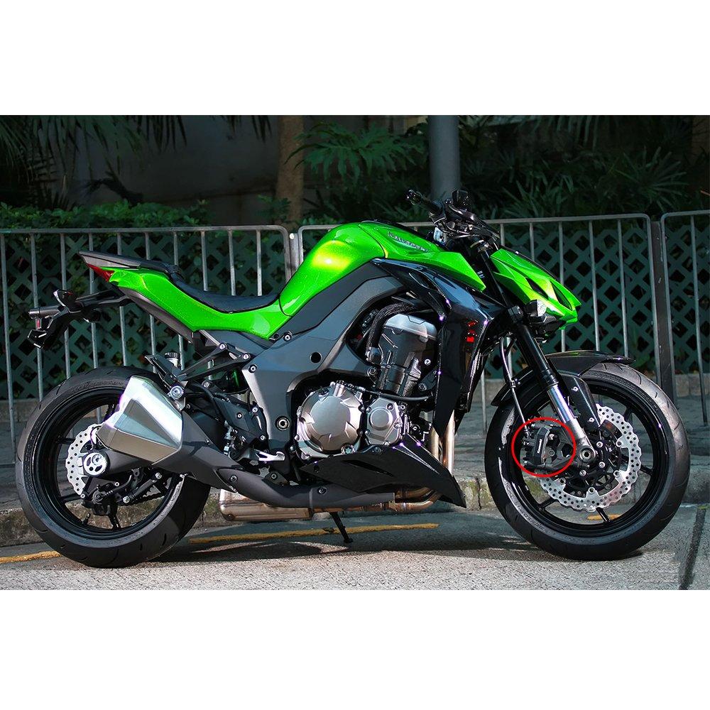 SMOK Motorcycle Front Brake Disc Caliper Brakecaliper Guard Protector Cover For Kawasaki Z800 Z800E Z 800 2013 2014 2015 2016 Silver