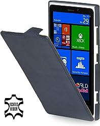 StilGut Ultraslim, housse exclusive de cuir véritable pour le Nokia Lumia 920, beu océan