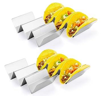 Taco soporte, hapway 4 unidades acero inoxidable Taco camión ...