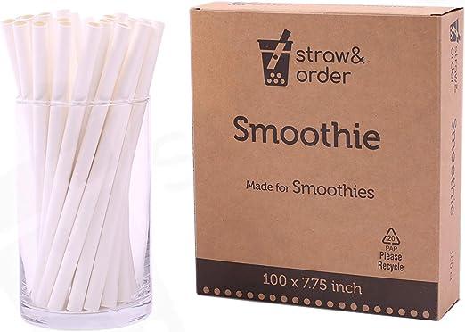 BIODEGRADABLE SMOOTHIE SLUSH PAPER  DRINK STRAWS Compostable MILKSHAKE STRAW