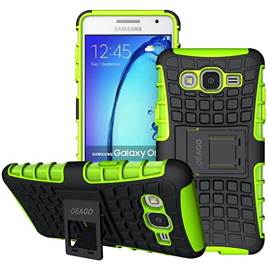 brand new a78e0 87a7f Galaxy On5 Case, OEAGO Samsung Galaxy On5 Case [Shockproof] [Impact  Protection] Tough Rugged Dual Layer Protective Case with Kickstand for  Samsung ...