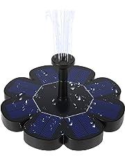Ankway Bomba de aguae Solar, 1.6W Fuente de baño para pájaros Solar Fuente de