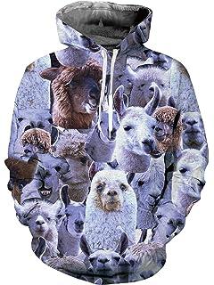 Loveternal Unisex 3D Grafik Print Kordel Tasche Pullover Hoodies Sweatshirt a82fcdefed