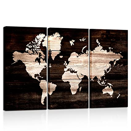 Amazon kreative arts modern abstract wall art world map kreative arts modern abstract wall art world map canvas painting vintage style picture prints for gumiabroncs Image collections
