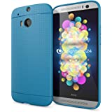 HTC One M8 M8S Silicone Case by NICA, Ultra-Thin Protective Mesh Mobile Phone Cover, Slim Shockproof Backcover Protector, Slim-Fit Back Bumper Soft-Case with Dots for HTC One M8S M8 - Blue